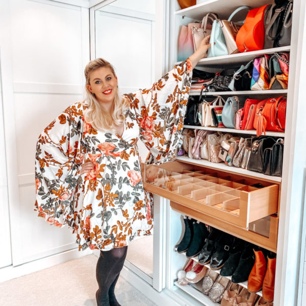 Louise Pentland with her dressing room wardrobe